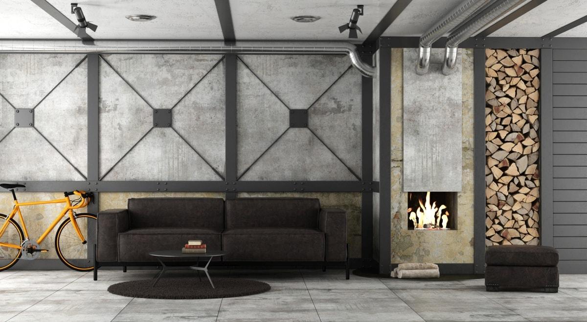 Ciemne meble kochają szarość. Efekt loftowego betonu osiągniecie używając specjalnej pasty dekoracyjnej do robienia betonu ozdobnego