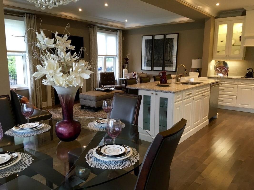 Klasyczna elegancja – taka kuchnia połączona z salonem to idealne miejsce do przyjmowania gości, nawet tych najznamienitszych…