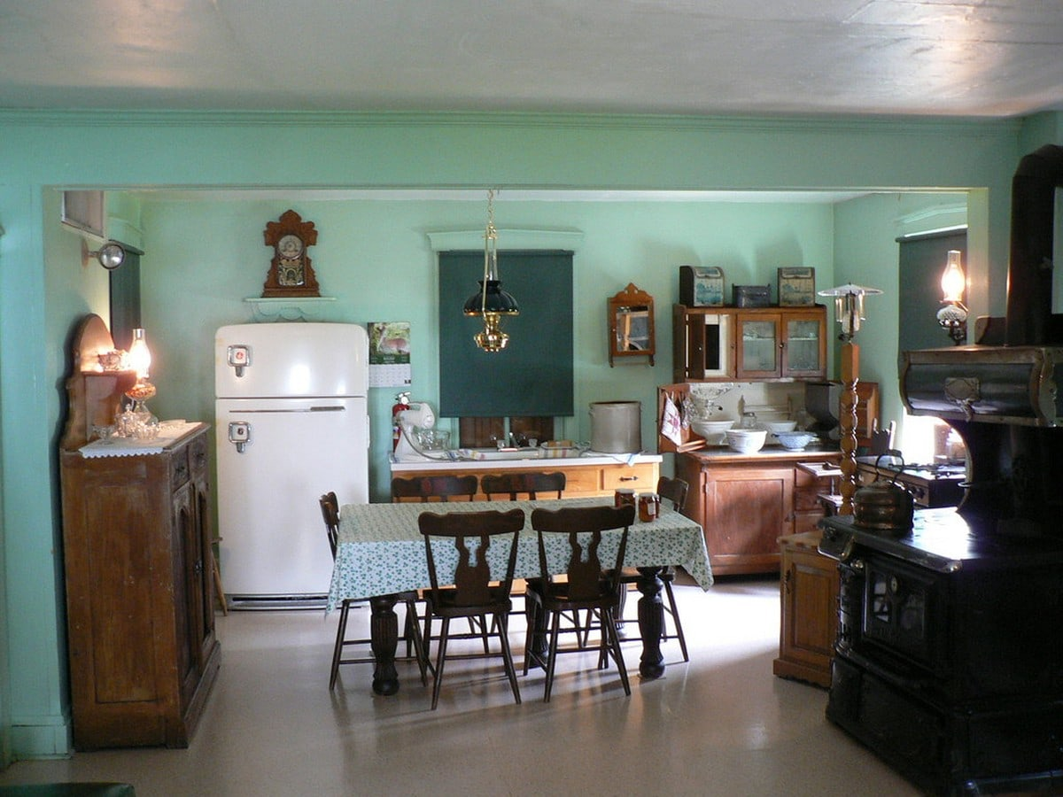 Kuchnia rustykalna w domostwie Amiszów