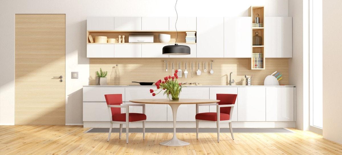 Niewielki aneks kuchenny – idealny do kuchni połączonej z salonem