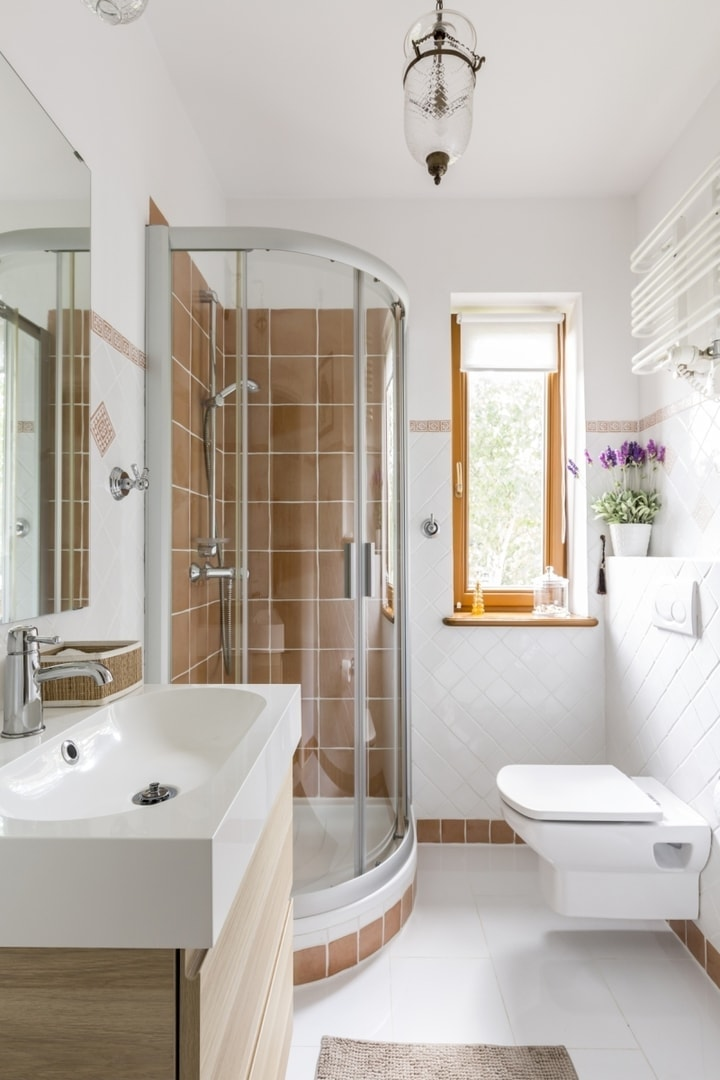 Mała łazienka Z Prysznicem Meblator
