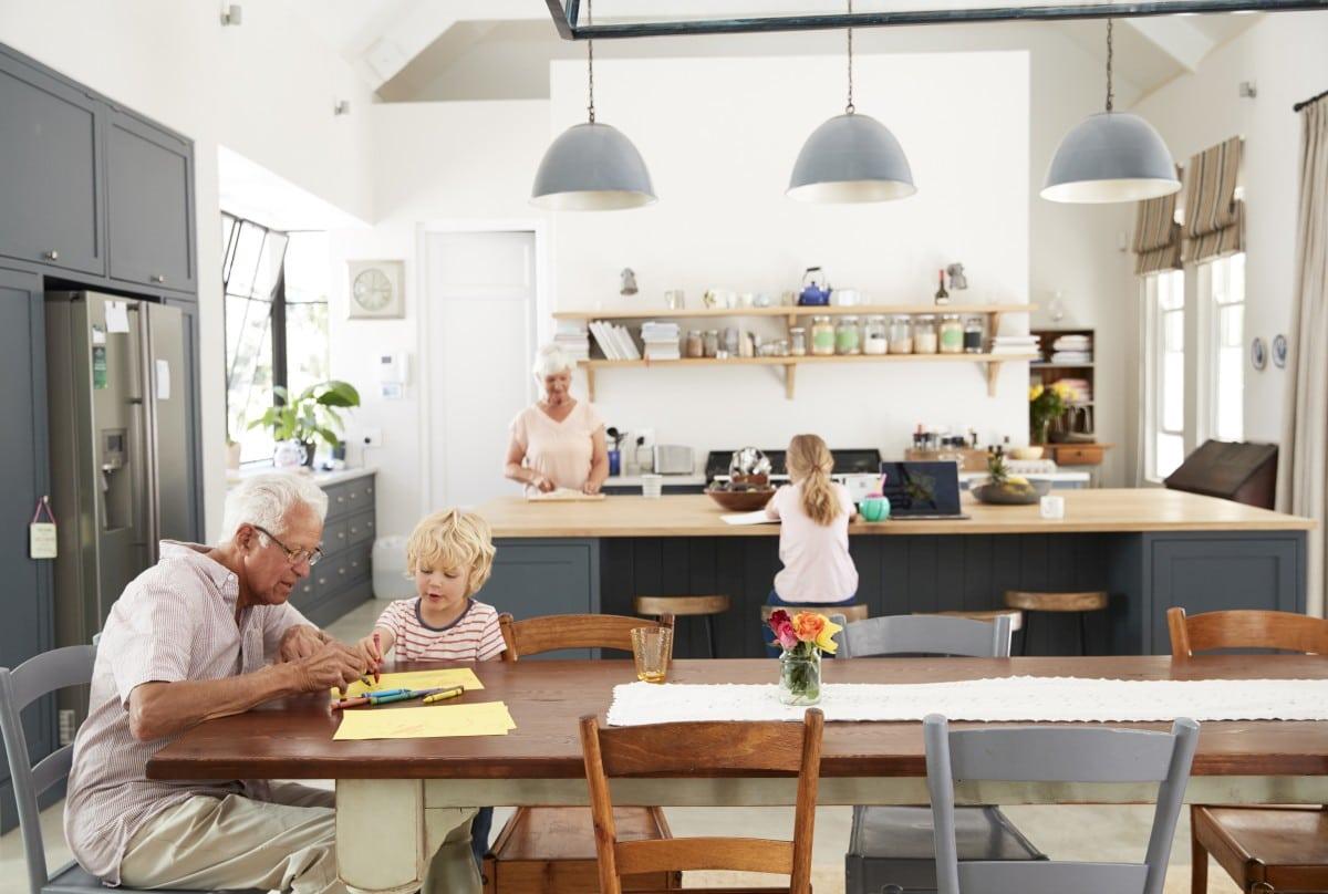 Szara kuchnia, która łączy pokolenia
